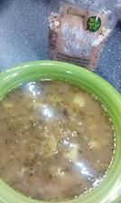 hrstková polévka z kupované směsi, s bramborem :-)