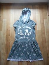 Květované šaty s kapucou, h&m,122