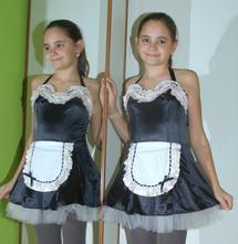 Karnevalové  šaty pokojská, služebná, servírka...,