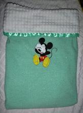 Luxusní deka do kočárku klučičí se jménem miminka,