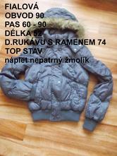 Zimní bunda, denim,s
