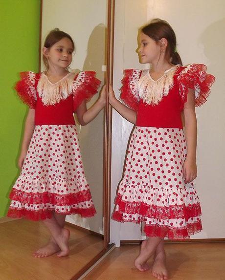 Karnevalové šaty  španělská tanečnice,