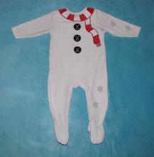 Zimní overálek 'sněhulák', ove22, mothercare,80