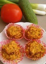 Muffiny zeleninové s kurkumou