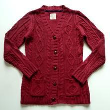 Dlouhý propínací svetr s kapsami vel. 146, 146