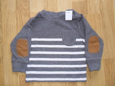Bavlněné tričko se záplatami, h&m,80