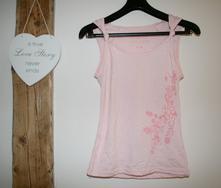 Růžové letní triko na ramínka, s