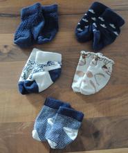 5x ponožky 0-3 měsíců, h&m,20
