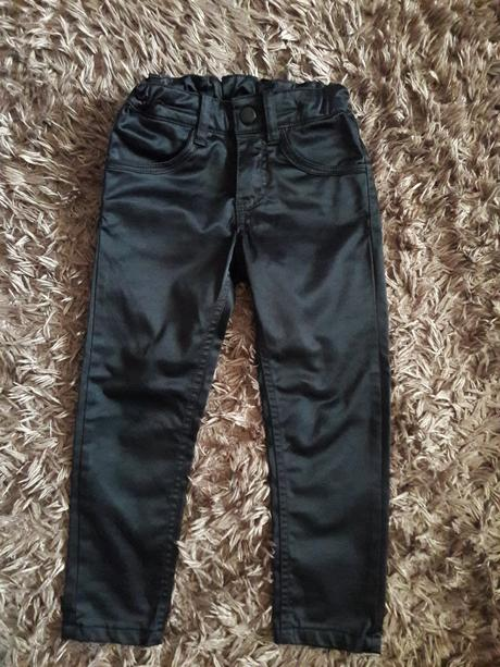Lesklé kalhoty, h&m,104