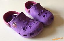 Fialové pantofle/sandálky/mulesky, 32