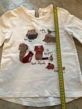 Bílé triko unisex next 3-4roky, 104cm zvířátka les, next,104