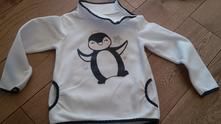 Flísová mikina s tučňákem, c&a,116