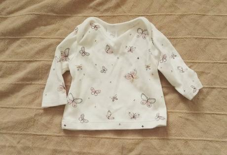 Tričko newborn nenošené, jen vyprané, baby club,50