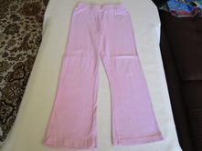 Pěkné růžové bavl. kalhoty - tepláčky s ozdobou, dopodopo,116