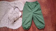 Zateplene kalhoty oteplovaky, h&m,86