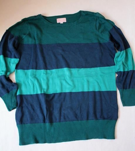 Proužkovaný svetr -top to toe -vel. m/l, m