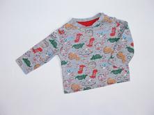 H689 tričko s dinosaury vel. 56, tu,56