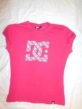 Sytě růžové elastické tričko dc, 170