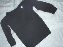 Elegantní tričko nebo slabší černá mikča, 128