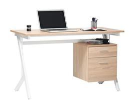 """nábytek mají děti bílý, ale desku stolu bílou nechceme, tak k ní nakombinujeme nejpravděpodobněji dub, dál potřebujeme, aby levá strana stolu nebyla plná deska, ale aby měl stůl """"nohy"""" a mohlo jít teplo od radiátoru, takže zatím přemýšlíme např tento"""