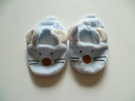 Capačky papučky barefoot myšky modré 12cm 9-12m, 17