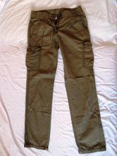 Plátěné dívčí kalhoty, 152