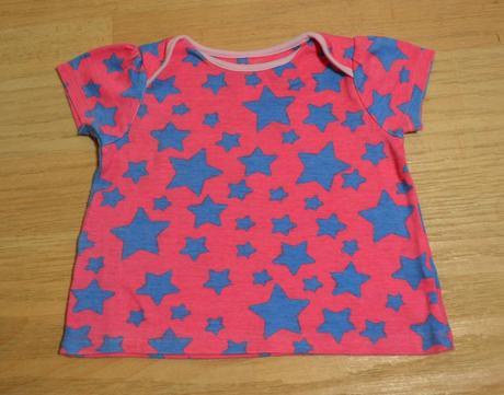 Tričko s kr. růžové s modr. hvězdami , ladybird,74