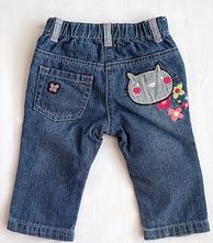 Kalhoty/ džíny s kočkou a duhou   , marks & spencer,74