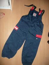 Šusťákové kalhoty podšité pogum 116/122, topolino,116