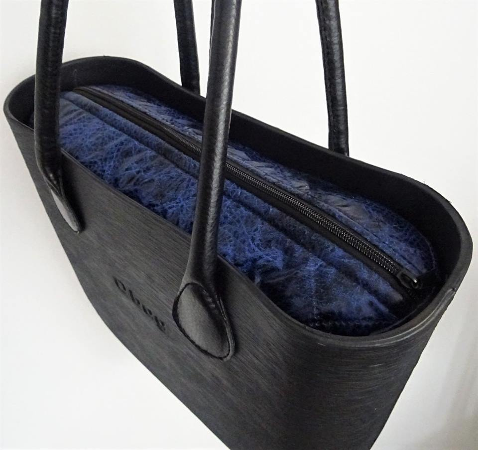 6ce32552a6 Modro-černá vnitřní taška do kabelky obag
