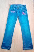 Nádherné džíny/kalhoty, okay, vel. 152 (11-12 let), okay,152