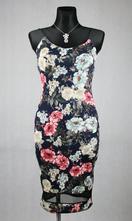 Květované šaty na ramínka vel 36-38, 38