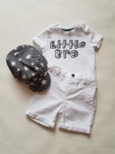 Bílé tričko, f&f,68