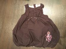 Vínové šaty balonový střih vel.80, baby club,80