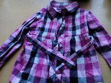 Káro košile, halena, blůza, tunika, ačkový střih, , okay,128