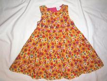Nádherné květované sluníčkové šaty - i slavnostní, miniclub,80