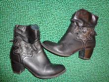 Luxusní kožené středně vysoké boty marco tozzi, marco tozzi,39
