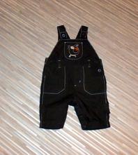 Hnědé laclové kalhoty s výšivkou, george,62