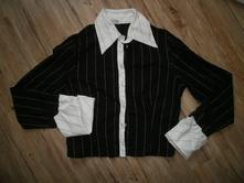 Elegantní košile s kontrastními lemy, xs