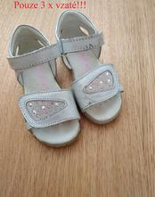 Celokožené stříbrné sandálky primigi, primigi,25