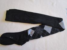 Téměř nové, teplejší černé bavl. punčocháče, 36