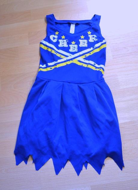 Šaty modré cheer, karnevalový kostým,