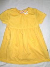 Kouzelné žluté šaty s puntikatým tylem, 74