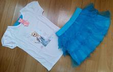 Tričko + sukně elsa z ledového království, 104 - 140