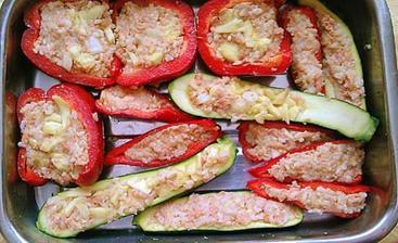 Plnené papriky a cukety