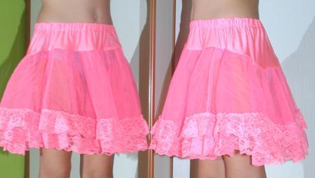 Kolová růžová sukně / spodnice, 38