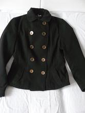 Flaušové zimní sako, kabátek, h&m,40