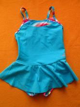 Plavky modré se sukýnkou, decathlon,86