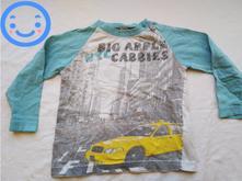Tričko se žlutým autem a modrými rukávy blue seven, 98