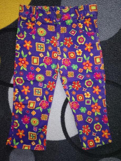 Barevné kalhoty, h&m,80
